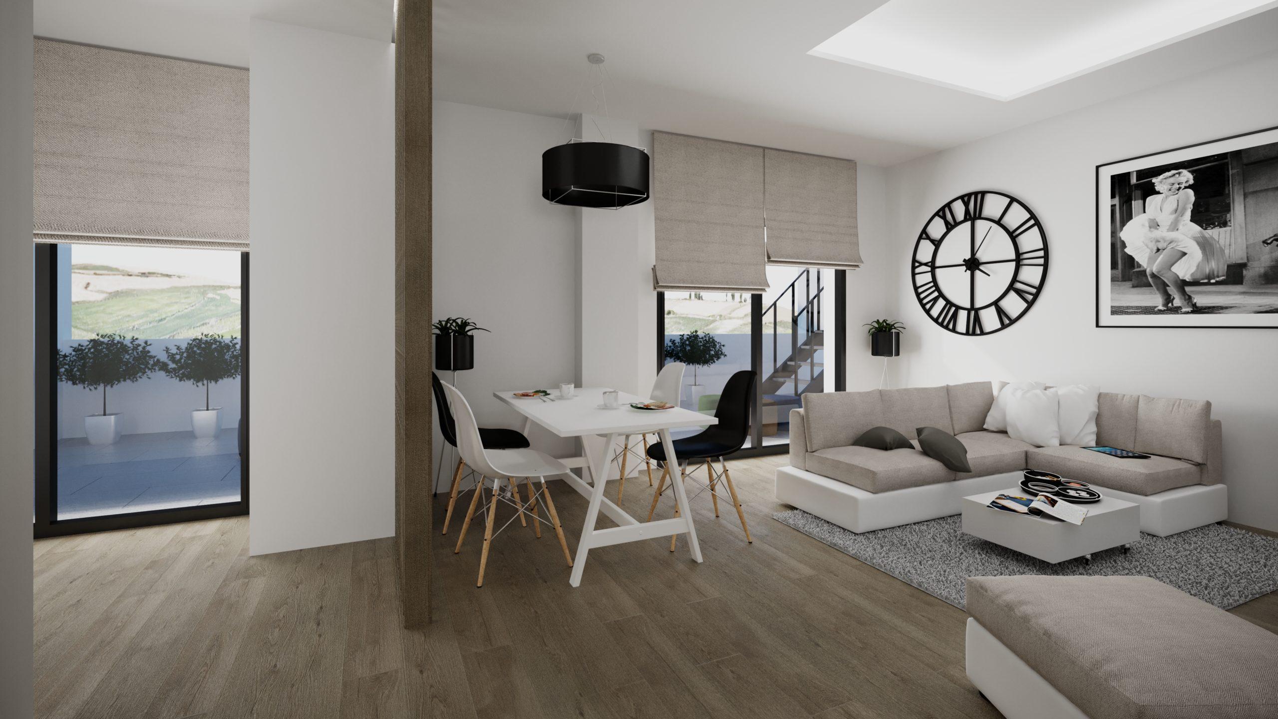 Salón Ático 1 dormitorio